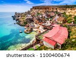 malta  il mellieha. view of the ... | Shutterstock . vector #1100400674