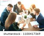 startup business team on... | Shutterstock . vector #1100417369