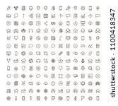 communication icon set.... | Shutterstock .eps vector #1100418347