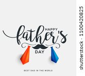 happy fathers day greeting card ... | Shutterstock .eps vector #1100420825