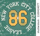 new york brooklyn sport wear...   Shutterstock .eps vector #1100424077