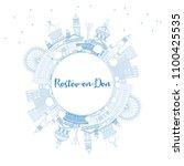 outline rostov on don russia... | Shutterstock . vector #1100425535