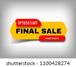 up to 50  off final sale banner ... | Shutterstock .eps vector #1100428274