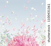 summer wind   luxurious white... | Shutterstock .eps vector #1100431361