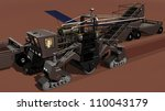 Detail of Mars Surface Mining Vehicle - stock photo
