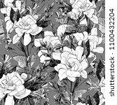 peony seamless pattern. hand... | Shutterstock . vector #1100432204