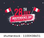 independence day of peru... | Shutterstock .eps vector #1100438651