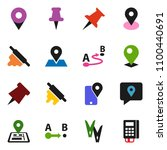 solid vector icon set  ... | Shutterstock .eps vector #1100440691