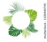 green summer tropical... | Shutterstock .eps vector #1100440745