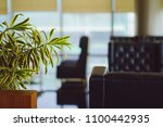 the blurred comfortable sofa... | Shutterstock . vector #1100442935