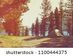beautiful sunbeams through the...   Shutterstock . vector #1100444375