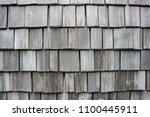 wood shingle wall siding made... | Shutterstock . vector #1100445911