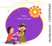 rakhi  indian brother and... | Shutterstock .eps vector #1100449664