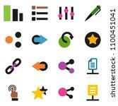 solid vector icon set   pen...