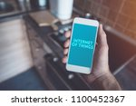 internet of things  smartphone... | Shutterstock . vector #1100452367