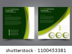 square flyer template. simple... | Shutterstock .eps vector #1100453381