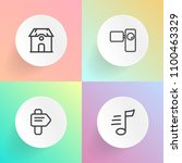 modern  simple vector icon set... | Shutterstock .eps vector #1100463329