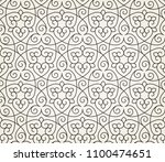 pattern with thin curl lines... | Shutterstock .eps vector #1100474651