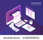 business tax and accounting ... | Shutterstock .eps vector #1100490431