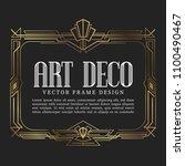 luxury vintage frame art deco... | Shutterstock .eps vector #1100490467