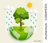 eco friendly. ecology concept... | Shutterstock .eps vector #1100495351