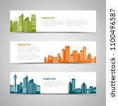 collection horizontal banners... | Shutterstock .eps vector #1100496587