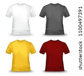 collection of colored tshirts... | Shutterstock .eps vector #1100497391