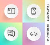 modern  simple vector icon set... | Shutterstock .eps vector #1100503457