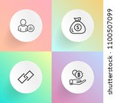 modern  simple vector icon set... | Shutterstock .eps vector #1100507099