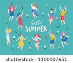 hello summer  banner with the... | Shutterstock .eps vector #1100507651