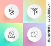 modern  simple vector icon set... | Shutterstock .eps vector #1100508107