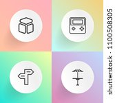 modern  simple vector icon set... | Shutterstock .eps vector #1100508305