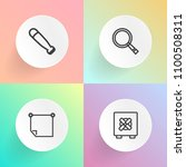modern  simple vector icon set... | Shutterstock .eps vector #1100508311