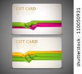 gift cards with multicolored... | Shutterstock .eps vector #110050931