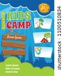 kid summer vacation template ...   Shutterstock .eps vector #1100510834