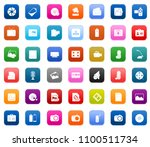 vector media and multimedia... | Shutterstock .eps vector #1100511734