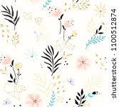floral pattern with abstract... | Shutterstock .eps vector #1100512874