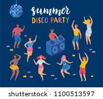 summer night party. the young... | Shutterstock .eps vector #1100513597