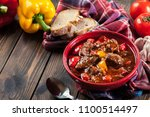 traditional hungarian beef... | Shutterstock . vector #1100514497