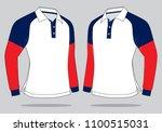 long sleeve polo shirt design   ...   Shutterstock .eps vector #1100515031