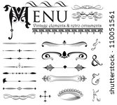 set of retro design elements... | Shutterstock .eps vector #110051561