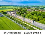 aerial view of the city walls... | Shutterstock . vector #1100519555
