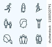 human icons line style set with ... | Shutterstock .eps vector #1100520791