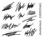 scribble brush strokes set ... | Shutterstock .eps vector #1100521661