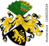 coat of arms of gera is the... | Shutterstock .eps vector #1100523524