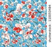 beautiful flower seamless... | Shutterstock .eps vector #110053484