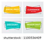set of flat geometric sale... | Shutterstock .eps vector #1100536409