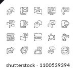 simple set message line icons... | Shutterstock .eps vector #1100539394