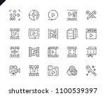 simple set video editing line...   Shutterstock .eps vector #1100539397