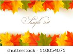 Autumn Background With Leaves...